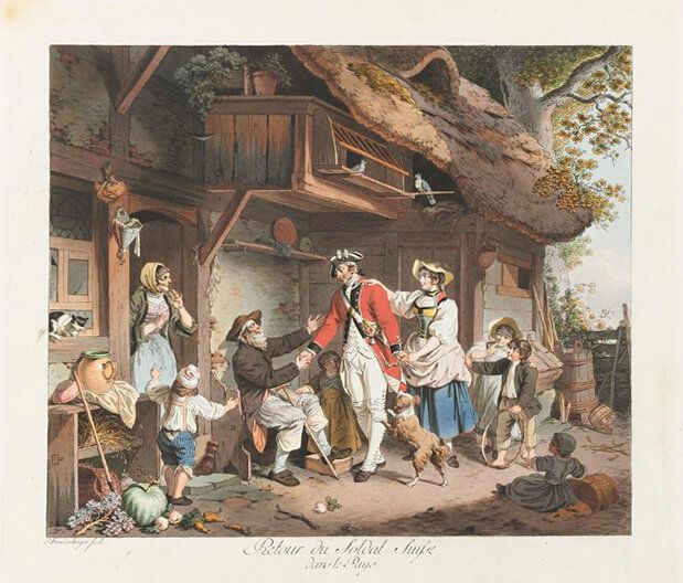 Ill. 3: Returning home after service abroad, circa 1780